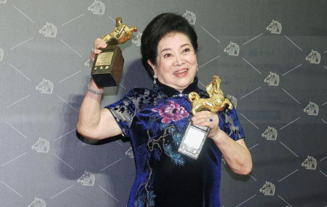 第57屆金馬獎最佳女主角、女配角雙料得主陳淑芳。聯合報系資料照片