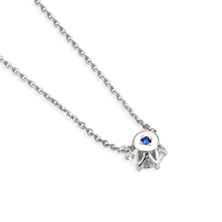 銀座白石獨家訂製項鍊內圈秘語寶石鑲嵌服務。圖/銀座白石提供
