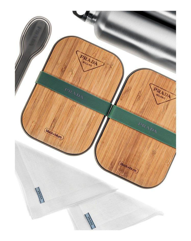 餐具組合1,800元,三明治盒3,700元,不鏽鋼水壺2,500元。圖/PRAD...