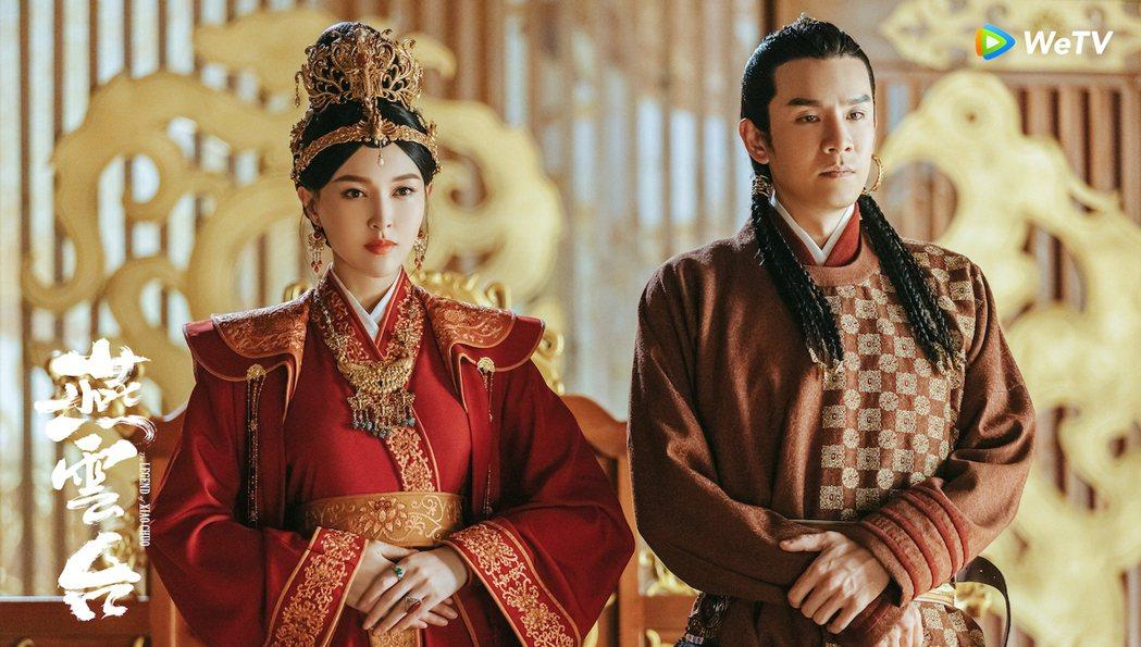 唐嫣(左)與經超主演「燕雲台」。圖/WeTV海外站提供