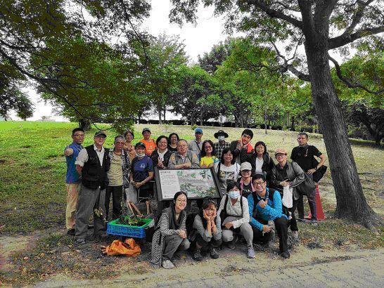 韌性都市林志工隊成立,打造中和四號公園為全國首座韌性都市林。圖/劉介光提供