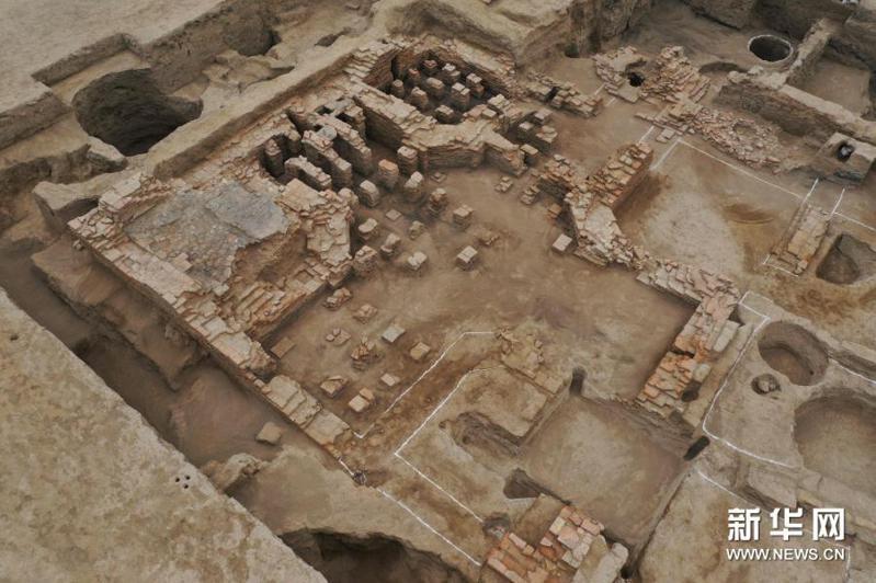 新疆唐朝墩古城浴場遺址。新華網