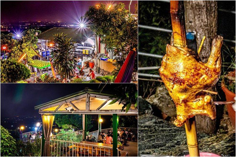 景觀餐廳營業至凌晨兩點,人氣烤雞供應至凌晨一點,開放一小時前預訂。圖/部落客饗食客棧。淘氣猴vs肥獅子的旅食天堂授權