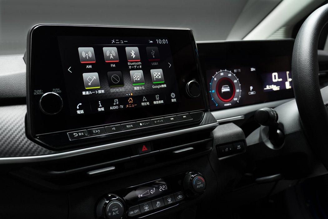 9吋的中控液晶螢幕。 圖/Nissan提供