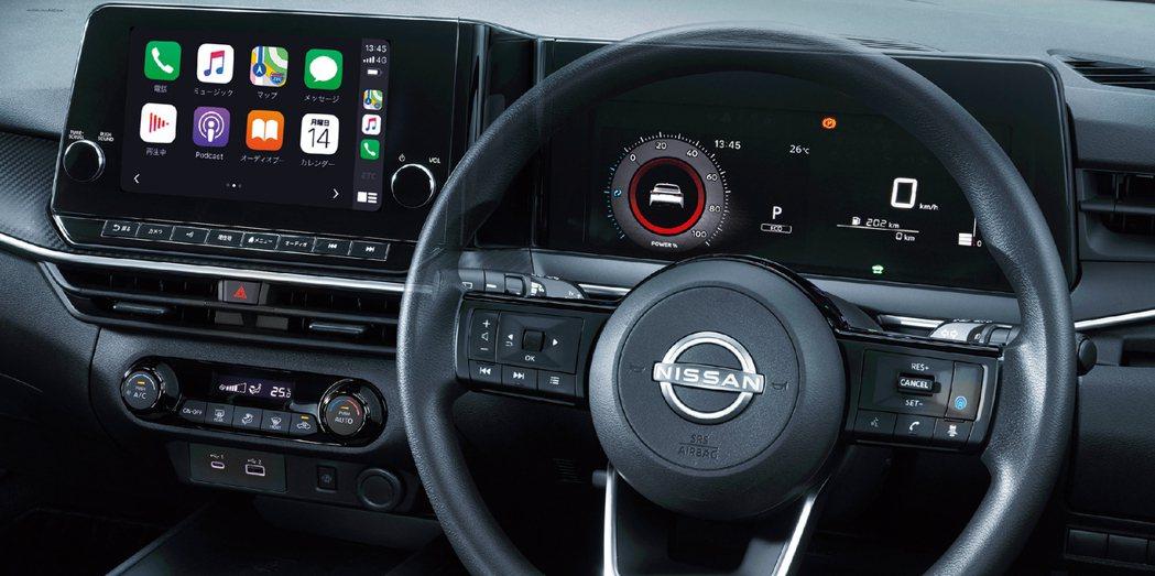 7吋虛擬儀表版搭配9吋的中控液晶螢幕頗有科技感。 圖/Nissan提供