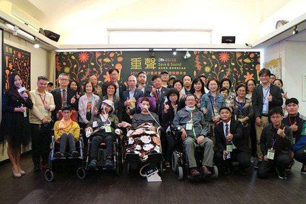 漸凍人協會於昨日(24日)在紀州庵文學森林舉辦《重聲Save & Sound》媒...