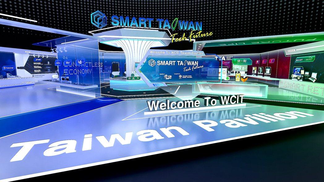 「3D臺灣形象館」參與2020 WCIT線上虛擬展。 中華軟協/提供