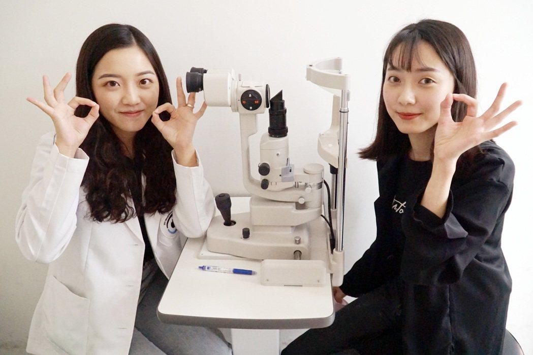 大葉大學視光系推出隱形眼鏡試戴活動。 大葉大學/提供。