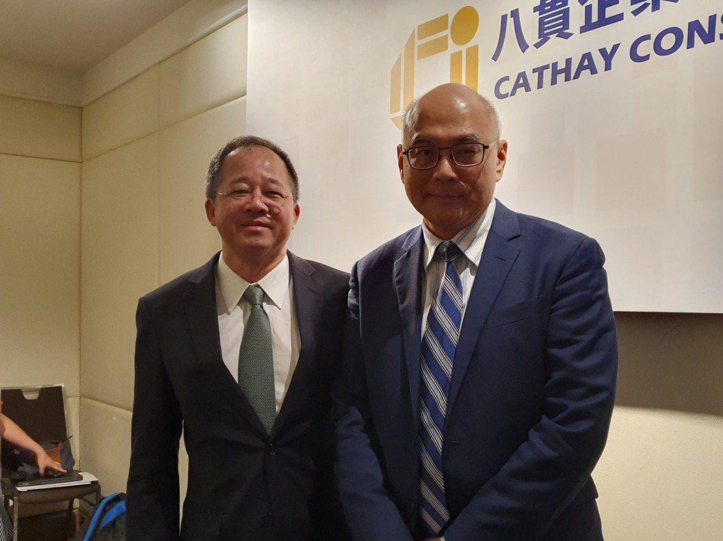 八貫董事長劉宗熹(左)和副總李宏毅。(記者曾仁凱/攝影)