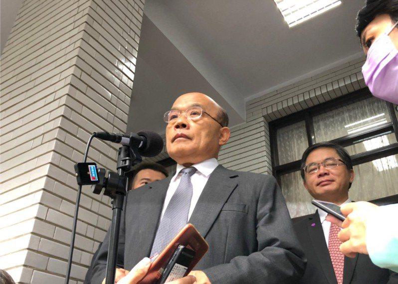 行政院長蘇貞昌。記者賴于榛/攝影