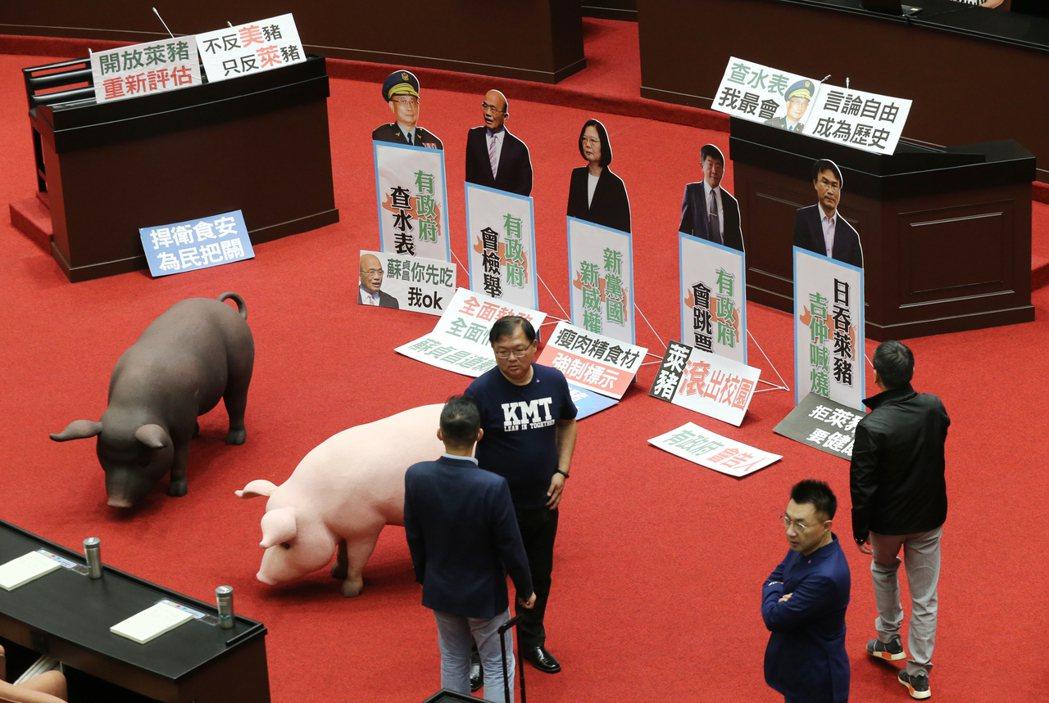 行政院長蘇貞昌上午前往立法院施政報告並備詢,國民黨持續杯葛無法上台報告。記者曾學...