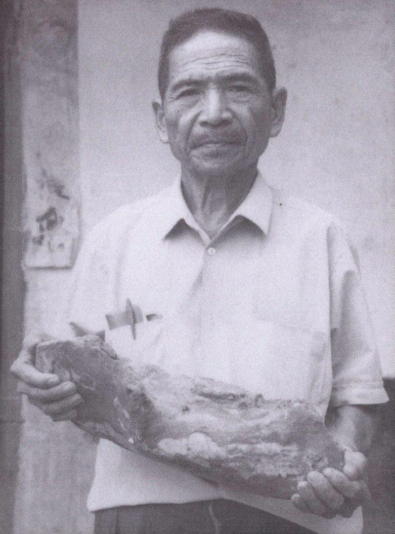 「化石爺爺」陳春木。圖/台南市文化局提供
