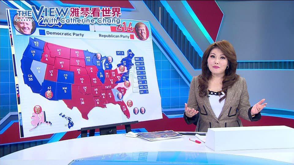 張雅琴播報「雅琴看世界」受到國際關注。圖/摘自臉書