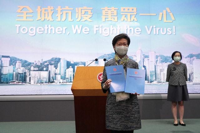 香港特首林鄭月娥表示,25日發表的香港施政報告將提出200項新措施。圖/取自環球網