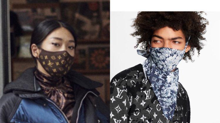 路易威登已推出男款口罩套裝,女裝口罩指日可待。圖/圖/取自LV官網