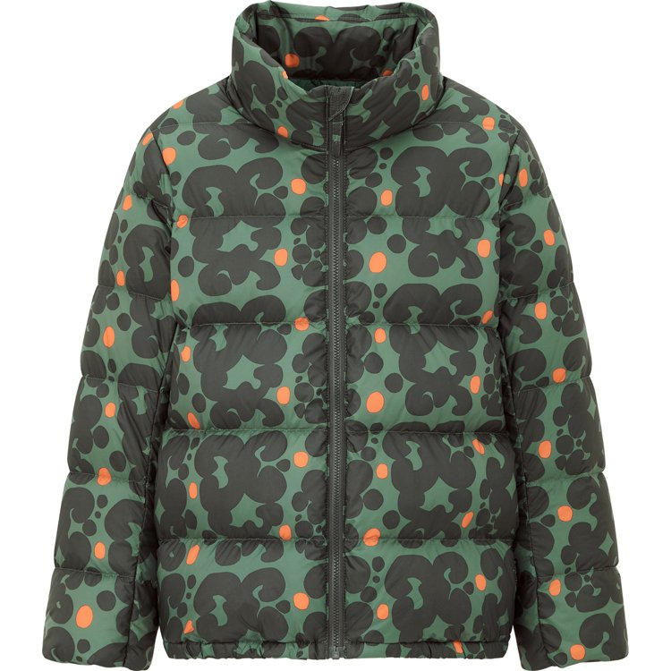 UNIQLO與Marimekko聯名系列女童特級極輕羽絨蓬鬆外套1,990元。圖...