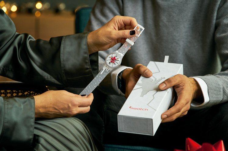SWATCH HoHoOuch 2020耶誕特別版限量腕表3,800元。圖/SW...