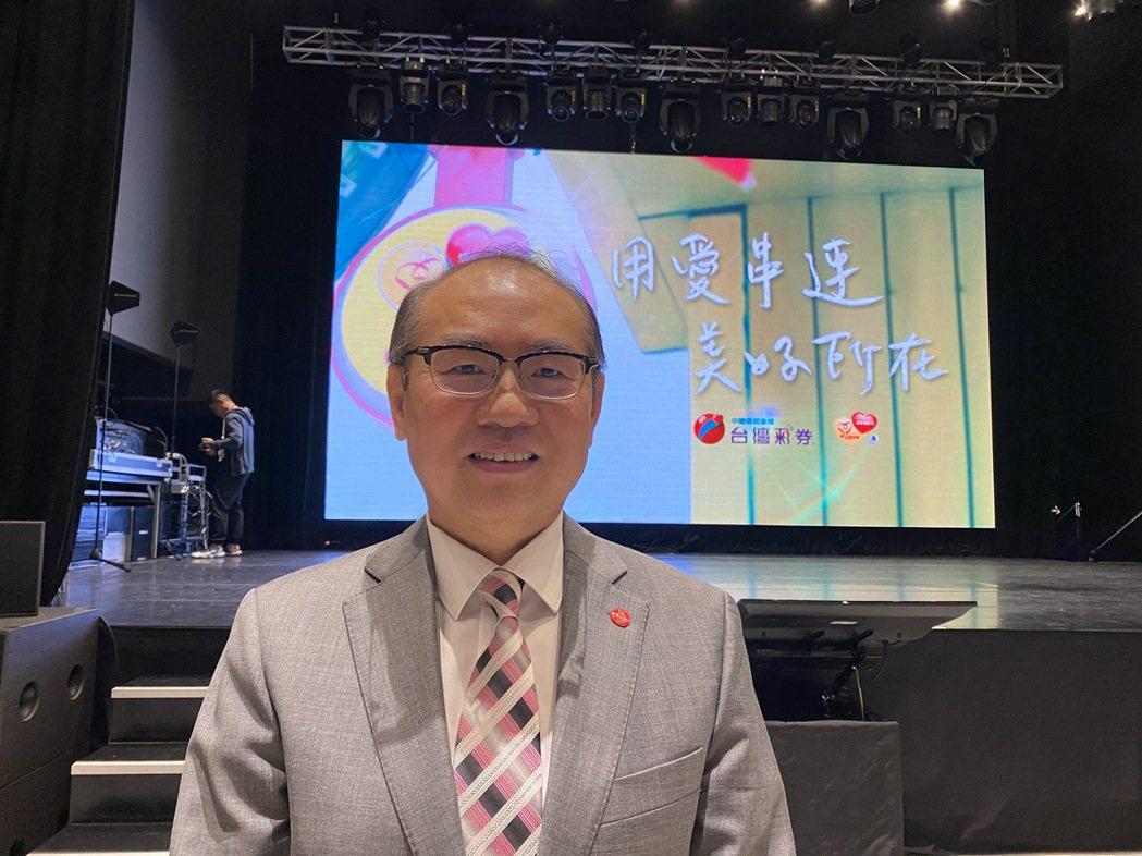台灣彩券公司總經理蔡國基。記者陳怡慈/攝影