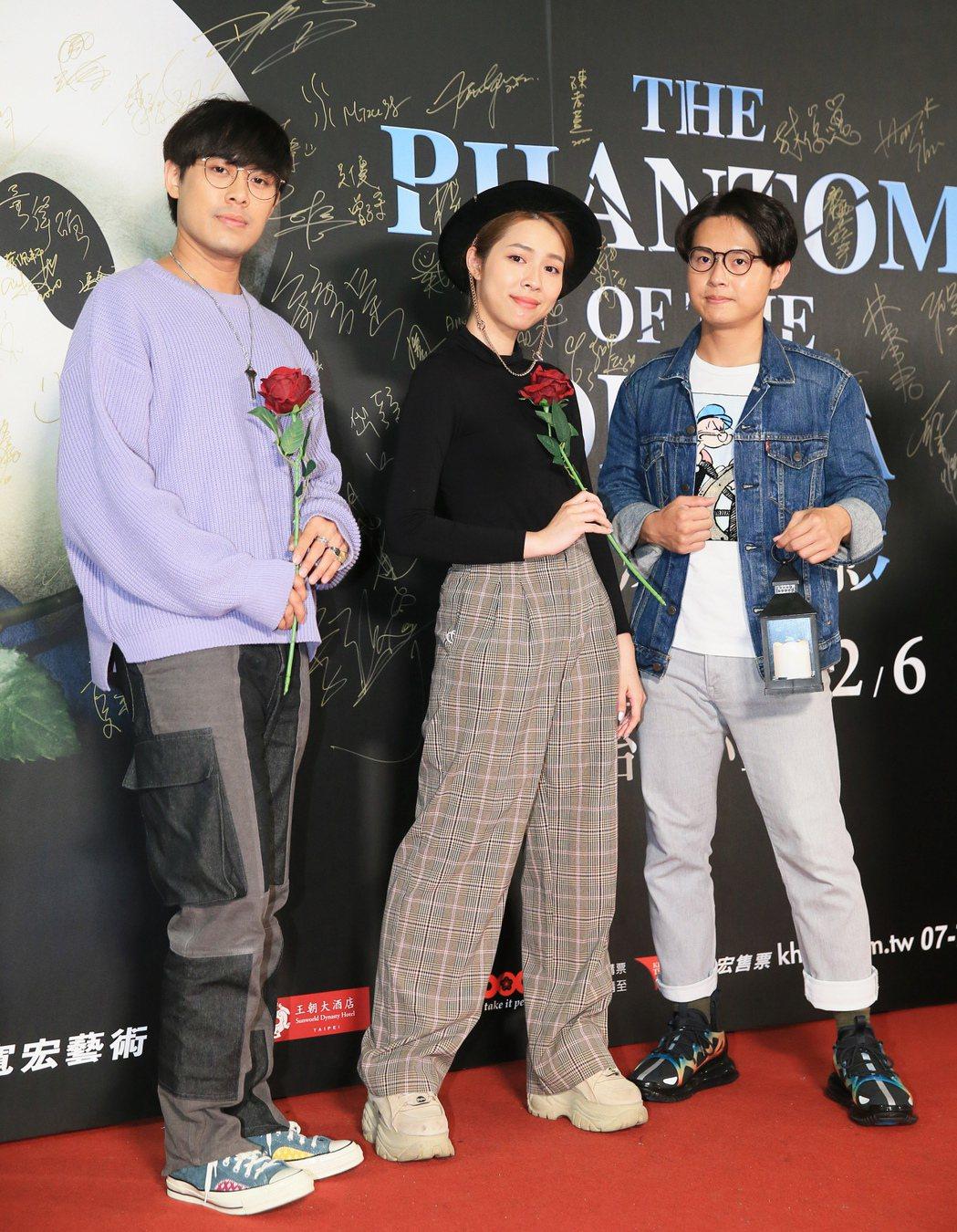 歌劇魅影開演第二周,告五人前來觀影。記者潘俊宏/攝影