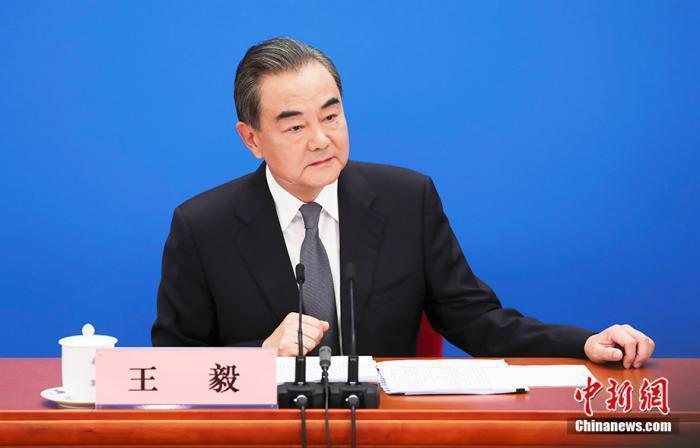 大陸國務委員兼外交部長王毅。圖/取自中新網
