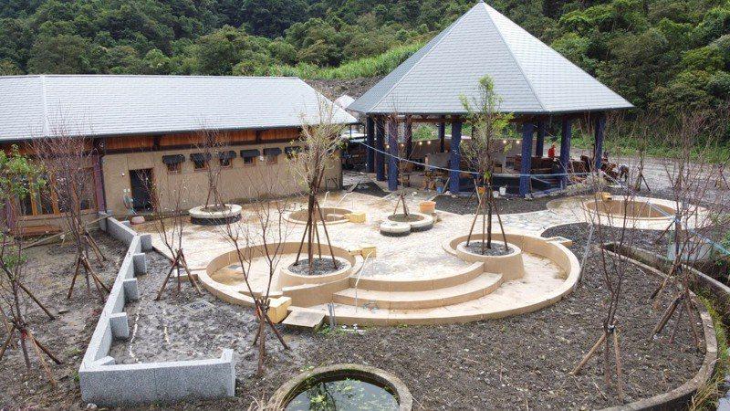 清水地熱四期工程已經陸續完工,預計明年春節前可以開放遊客泡湯。圖/宜蘭縣政府提供。
