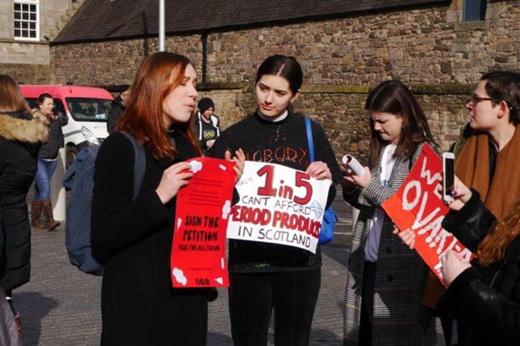 在蘇格蘭,每5個女性之中就有1人曾遭遇「月經貧窮」的問題;換句話說,20%的蘇格...