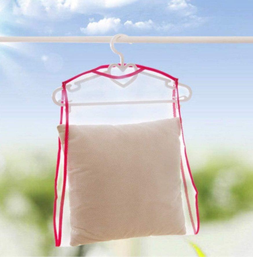 將枕頭風乾幾天,以確保清新,並確保去除所有水分,從而防止枕頭內部發霉。 圖/黃軒...