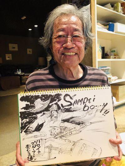 「天才小釣手」日本漫畫家矢口高雄女兒稍早在矢口的官方推特發表父親的死訊。圖/翻攝矢口英雄推特