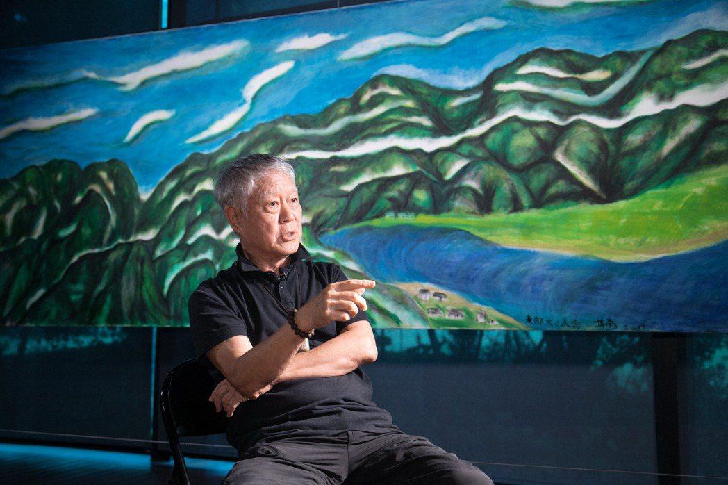 蔣勳透過畫作,把東台灣的雲帶到北台灣的雲門。記者陳立凱/攝影