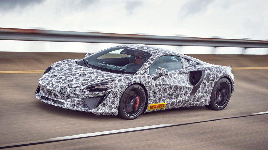 McLaren Artura測試車。 摘自autoexpress