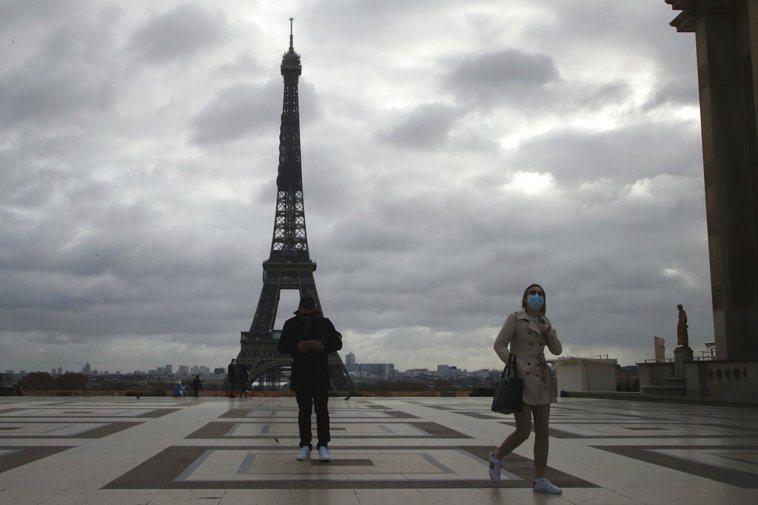 法國新增確診數下降,將啟動3段式解封。 圖/美聯社