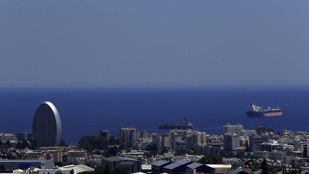 塞浦路斯Limassol市著名的天際線。  美聯社