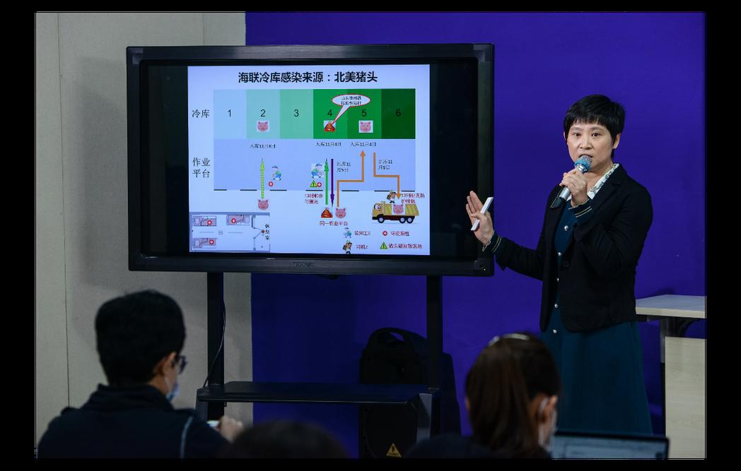 天津市疾控中心副主任張穎指出,天津這波新冠疫情其中一感染源為北美豬頭。中新社