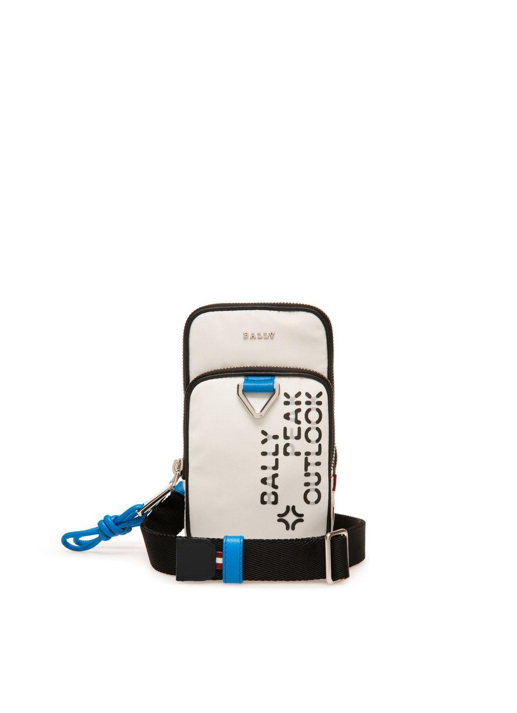 Peak Outlook環保材質白色小型掛包,20,000元。圖/BALLY提供