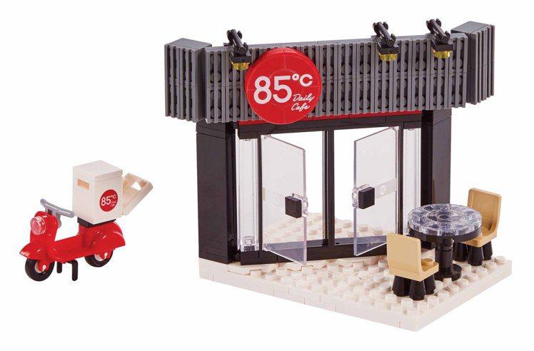 分區組裝之「門店區」。圖/85℃提供