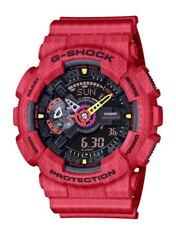 G-SHOCK跨界Jahan Lo系列GA-110SGH-4A腕表5,900元。...