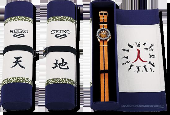 Seiko 5 Sport則與超人氣動漫《火影忍者》合作的表款,都有特別收藏盒。...