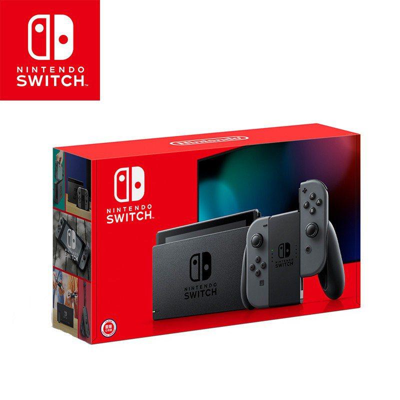 Switch主機灰色加強版,優惠價9,780元,還可999元加購左右手控制器。圖...