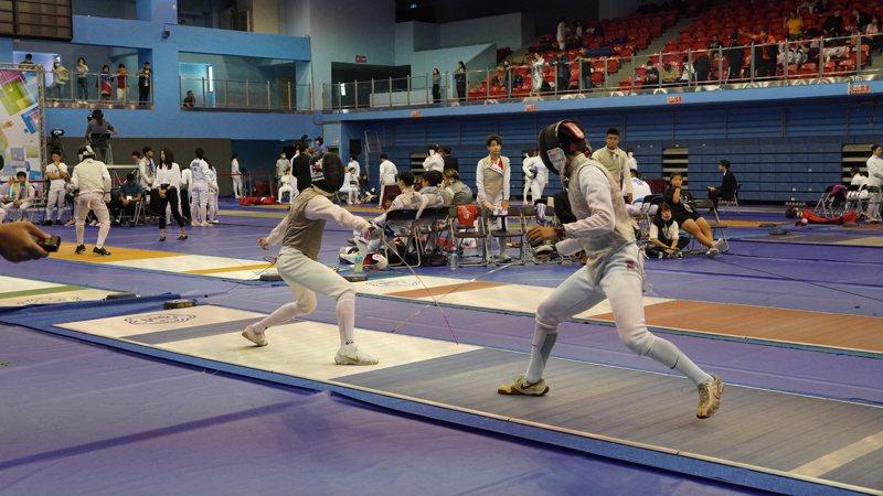 台北擊劍公開賽今年受疫情影響改為國內賽但增設全國排名積分。圖/教育部體育署國際組提供