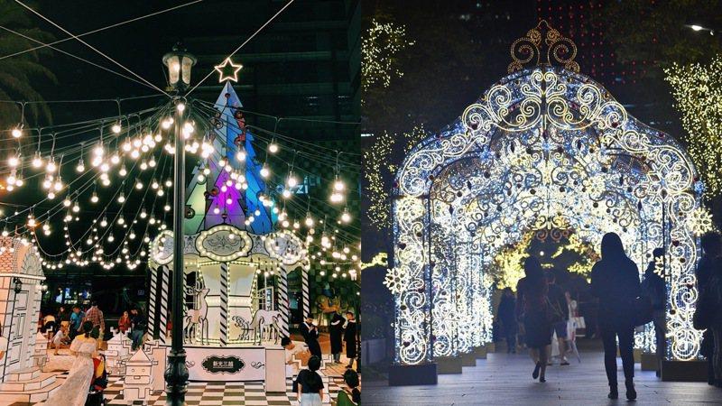新光三越、台北101打造璀璨耶誕造景。圖/業者提供
