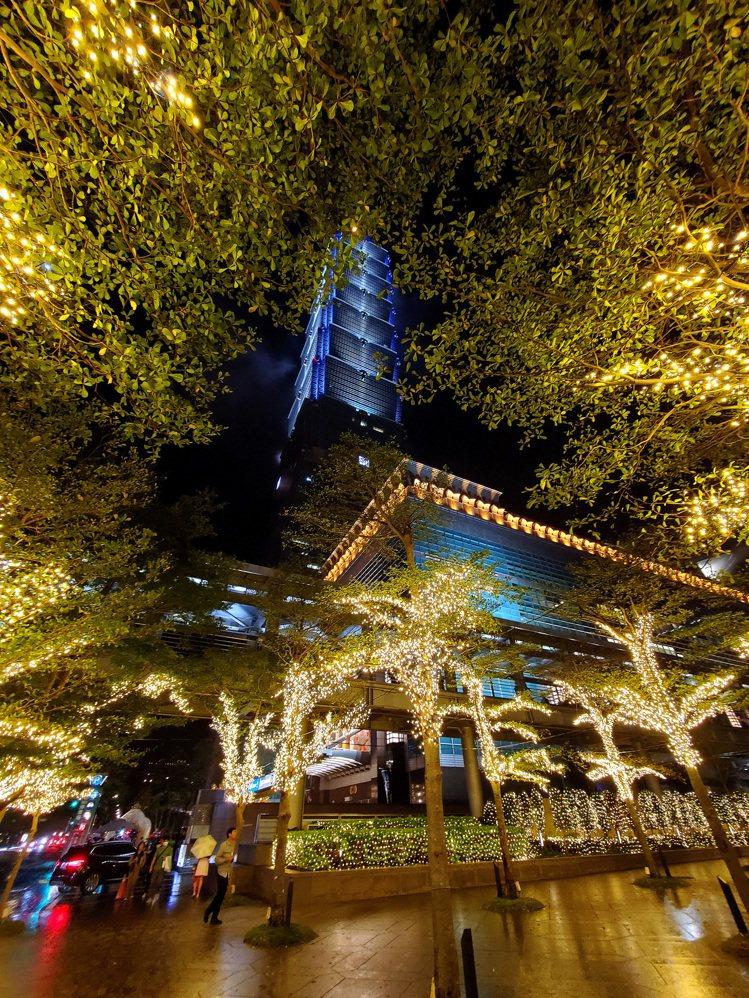 台北101耶誕燈海。圖/台北101提供