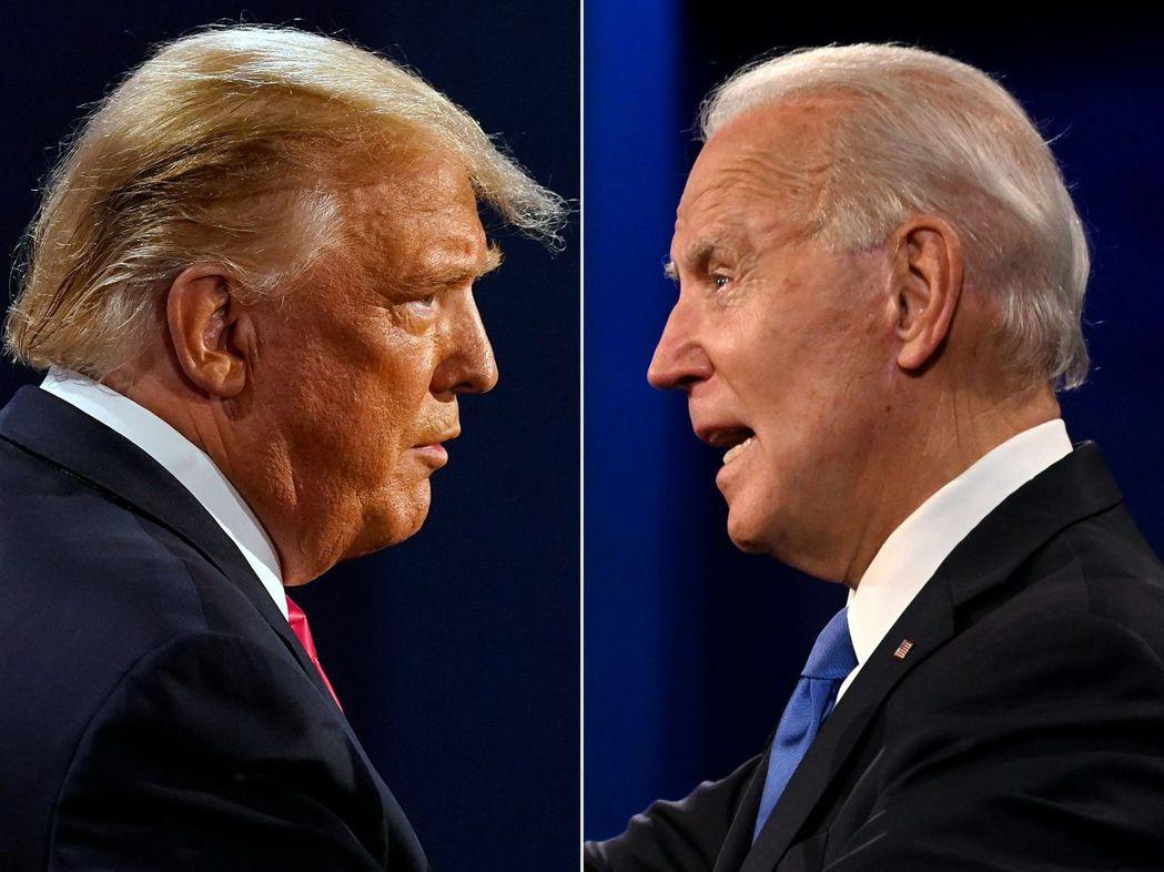 川普(左)下台後可能要忙著跑法院,儘管總統當選人拜登(右)表示無意派司法部調查他...