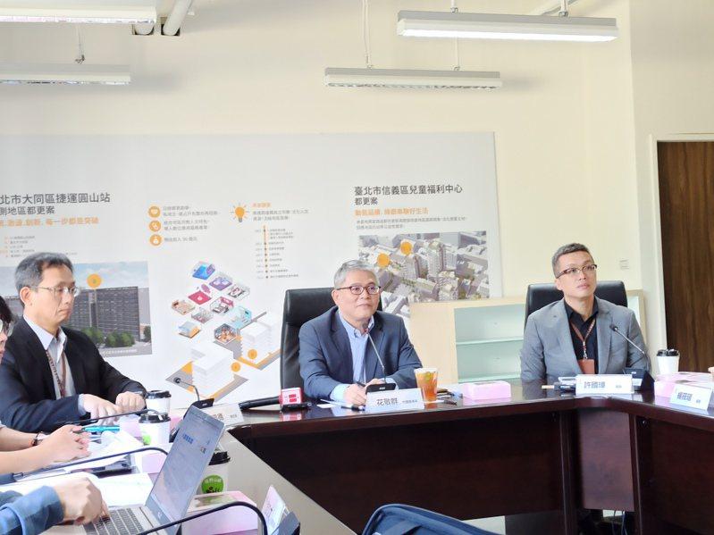 國家住都中心代理董事長花敬群說明社宅規劃。攝影/記者翁至威
