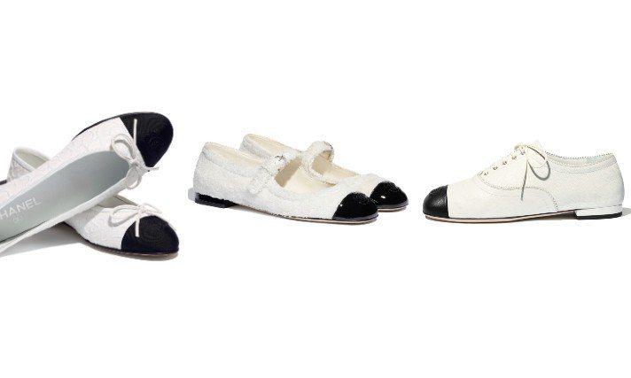 在最新上市的2021度假系列,香奈兒帶來了經典的黑白配色雙色鞋,款式非常多元。圖...