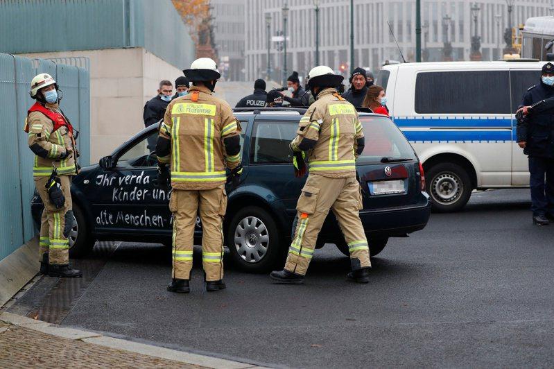 德國警消在事發後已將現場封鎖。路透