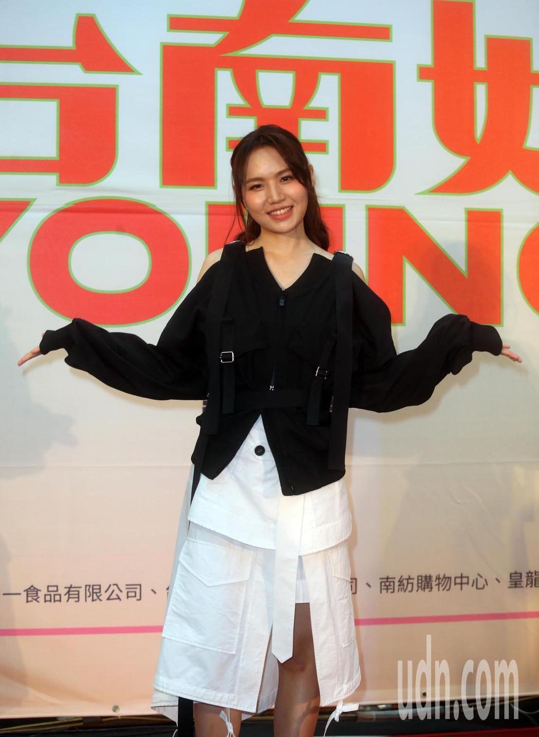 文慧如應邀參與「台南好YOUNG!2021台南市耶誕跨年系列活動」。記者曾吉松/...