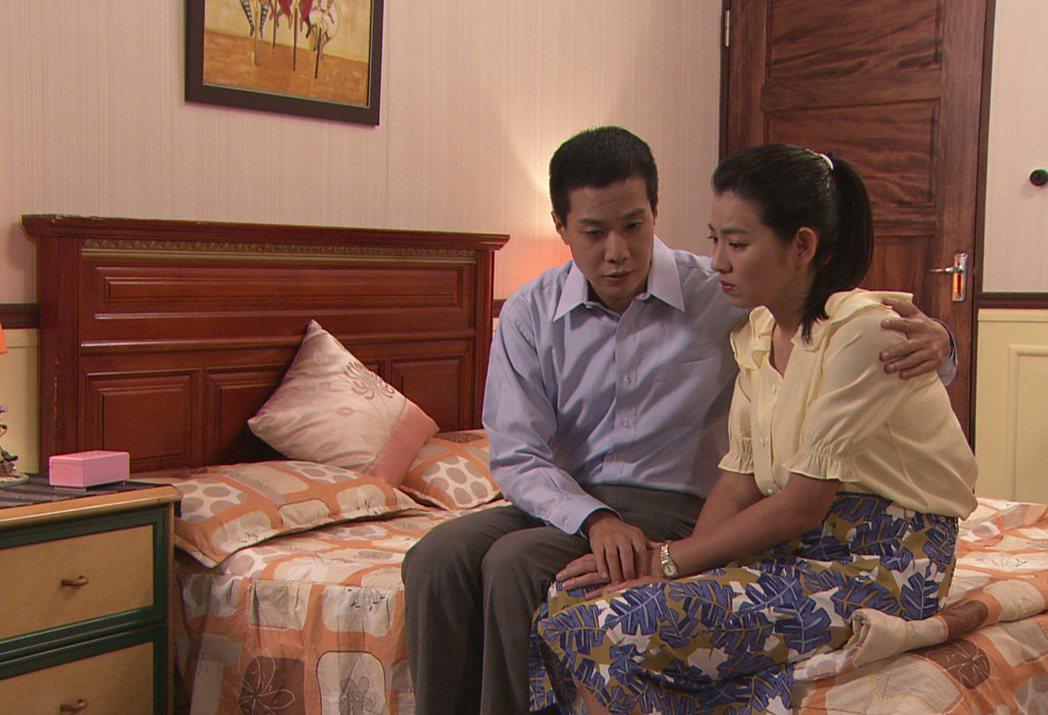 米可白(右)與薛仕凌劇中面臨生育問題。圖/台視提供