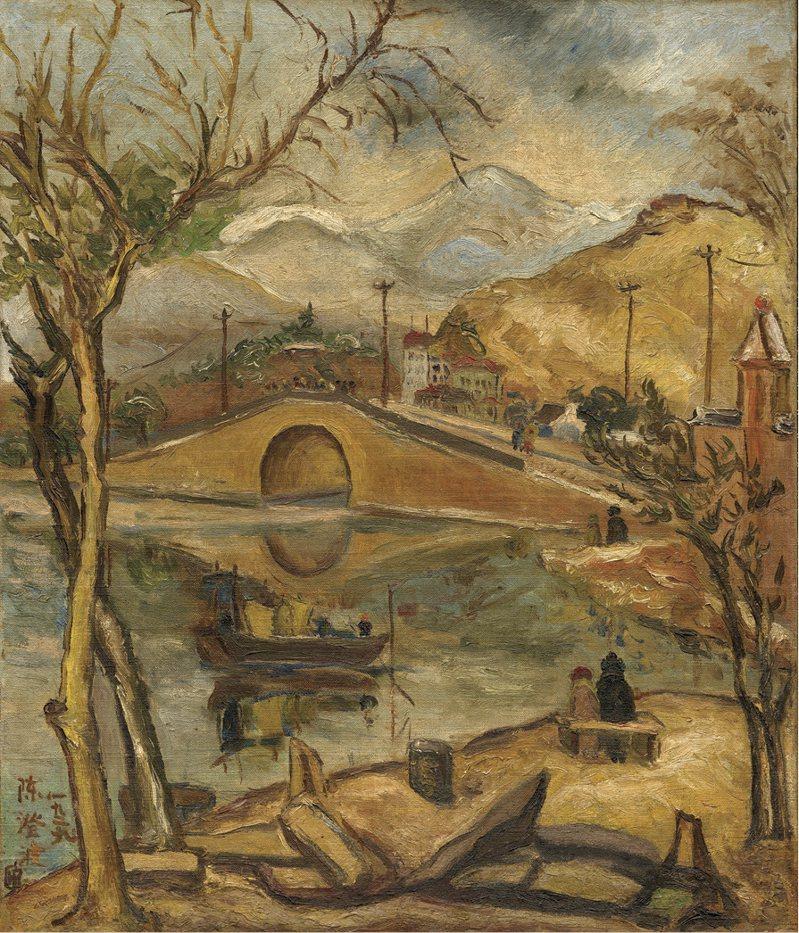 陳澄波「西湖斷橋殘雪」將在國美館「經典再現─台府展現存作品特展」展出。圖/國美館提供