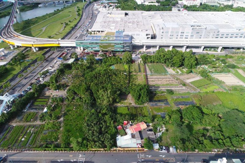 新北市推動「新店十四張B單元區段徵收案」,決議在安坑輕軌K9站旁畫設公園,保留珍貴樹木及樟樹群。圖/新北城鄉局提供