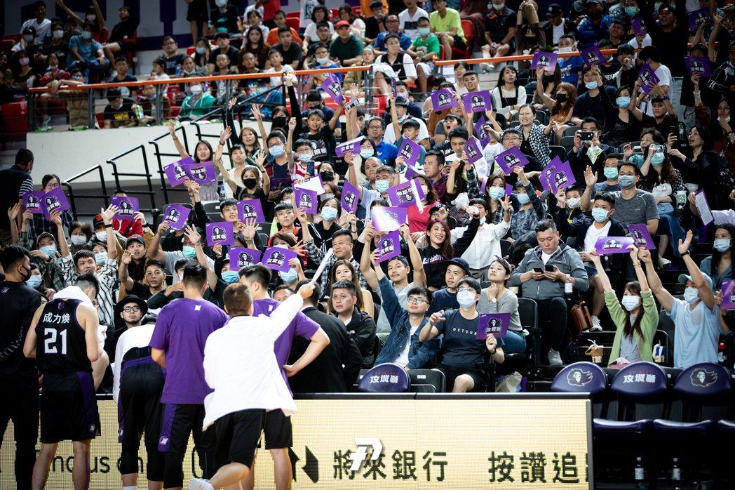 新竹攻城獅於10月中旬自辦熱身賽。 圖/P-League+提供